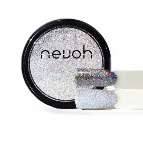 Polvere Microglitter Silver Holographic