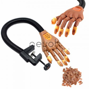 Mano finta per esercitazioni ricostruzione unghie